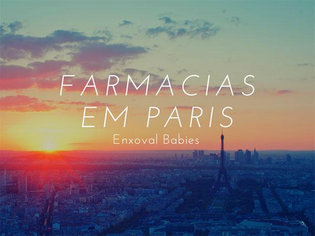 Compras nas farmácias de Paris!