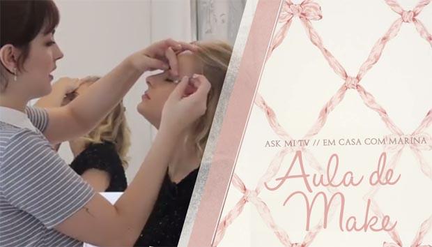 Ask Mi TV – aula de auto maquiagem com a Livia!