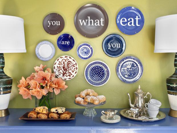Decoração com pratos nas paredes!