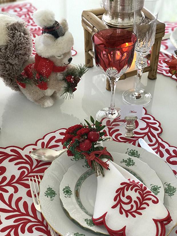 Inspiração de decor para a mesa de Natal!