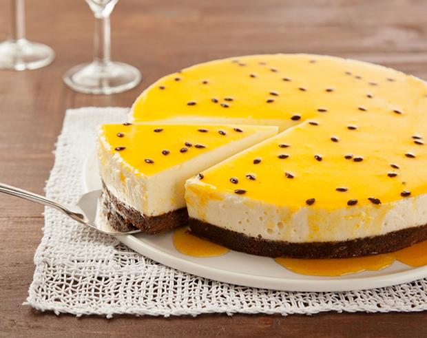 Receita do dia: CheeseCake com calda de Maracujá!