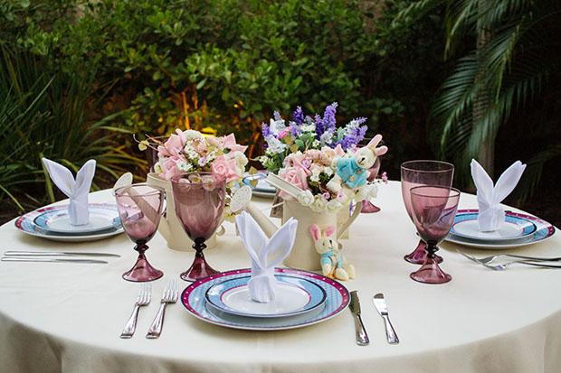 15-04-2014 - RECIFE - PE - CASA MODELO - Fotos de mesas de almoço/jantar com decoração de pascoa. (Foto: GIOVANNI COSTA/LEAD)