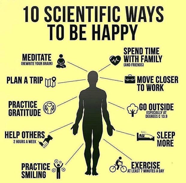 10 dicas científicas para ser feliz!
