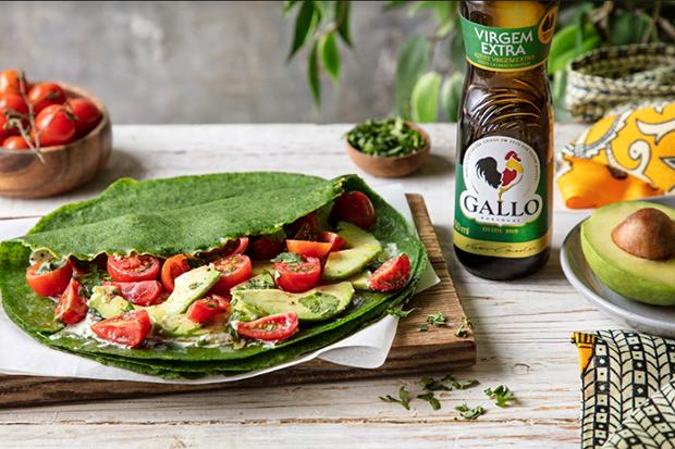 Aprenda uma receita de crepe salgado leve e saudável com Azeite Gallo Extra Virgem Clássico!