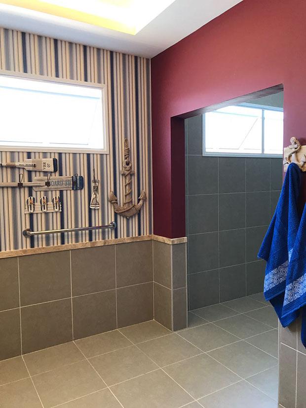 O novo banheiro masculino do Asilo São Vicente-Araçatuba