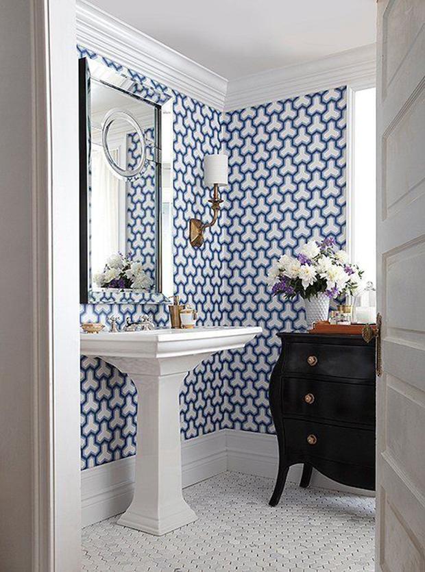 Ideias de lavabos com papel de parede!